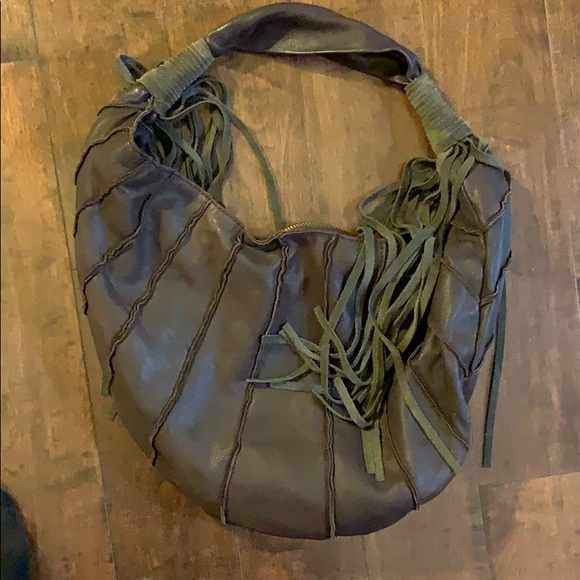 Lucky Brand Brown Leather-Fringe Bag
